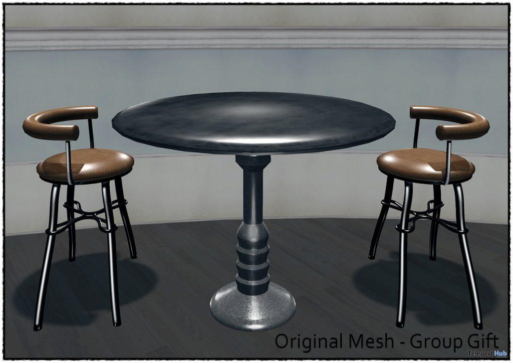 Retro Table Set February 2021 Group Gift by Careless - Teleport Hub - teleporthub.com