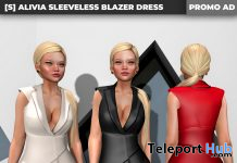 New Release: [S] Alivia Sleeveless Blazer Dress by [satus Inc] - Teleport Hub - teleporthub.com
