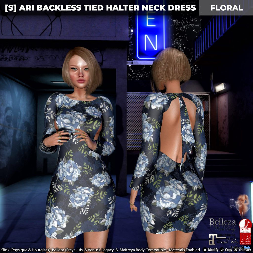 New Release: [S] Ari Backless Tied Halter Neck Dress by [satus Inc] - Teleport Hub - teleporthub.com