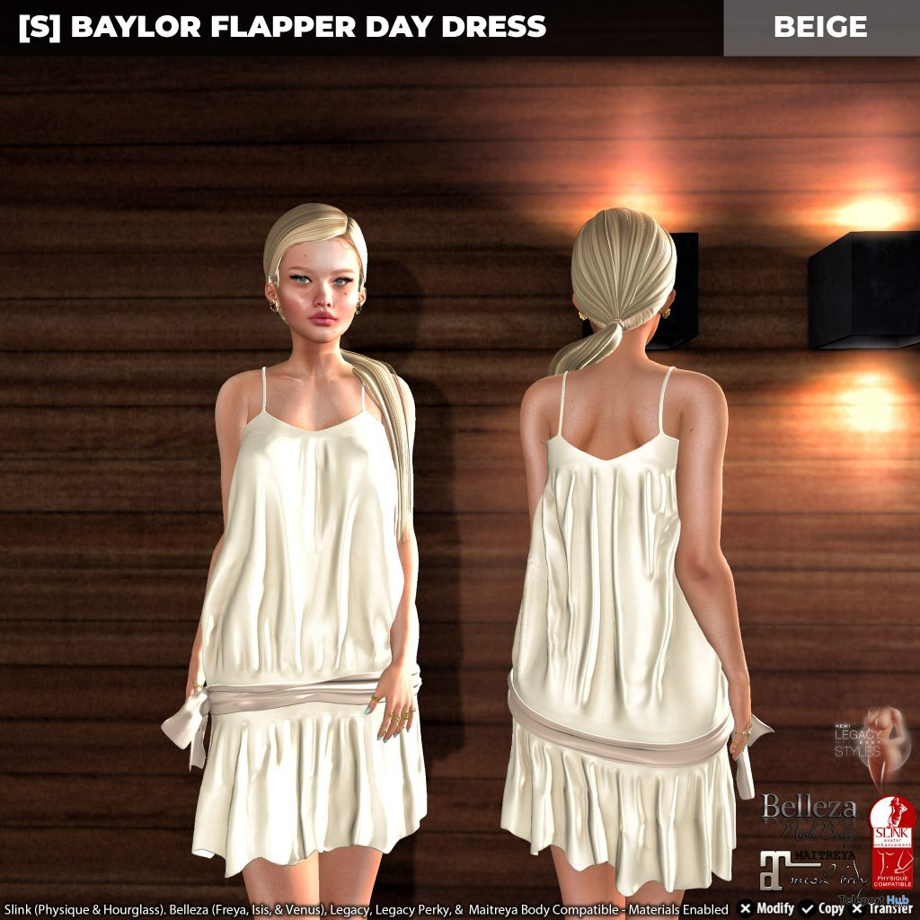New Release: [S] Baylor Flapper Day Dress by [satus Inc] - Teleport Hub - teleporthub.com