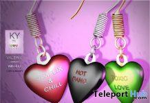 Valeria Earrings February 2021 Group Gift by KYMILE - Teleport Hub - teleporthub.com