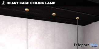 New Release: Heart Cage Ceiling Lamp by [satus Inc] - Teleport Hub - teleporthub.com