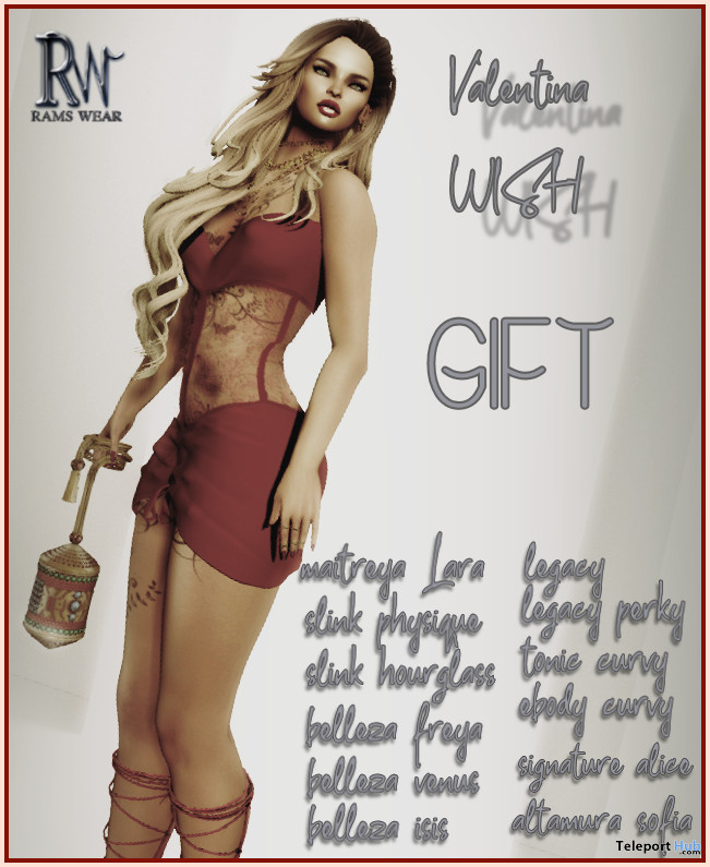 Valentina Wish Dress February 2021 Group Gift by Rams Wear - Teleport Hub - teleporthub.com