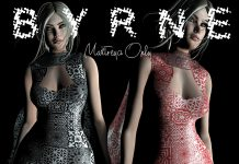 Simona Dress March 2021 Group Gift by BYRNE - Teleport Hub - teleporthub.com