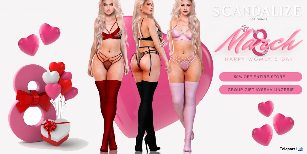 Ayesha Lingerie Fatpack International Women's Day 2021 Group Gift by SCANDALIZE - Teleport Hub - teleporthub.com