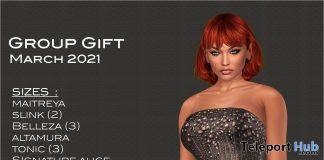 Asymmetrical Strapless Dress March 2021 Group Gift by Selene Creations - Teleport Hub - teleporthub.com