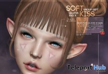 Soft Kiss Ears Blush For Lelutka EVO Heads March 2021 Group Gift by Cubic Cherry - Teleport Hub - teleporthub.com