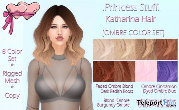 Katharina Hair March 2021 Group Gift by Princess Stuff - Teleport Hub - teleporthub.com