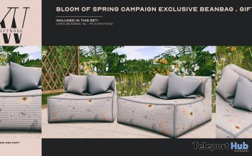 Bloom of Spring Exclusive Linen Beanbag March 2021 Gift by KraftWork - Teleport Hub - teleporthub.com