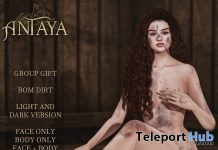 Full Body Dirt BOM Light & Dark March 2021 Group Gift by ANTAYA - Teleport Hub - teleporthub.com