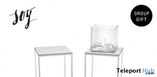 Simply Side Table & Clear Box With Papers March 2021 Subscriber Gift by Soy - Teleport Hub - teleporthub.com