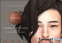 Daniel BOM Facial Hair March 2021 Group Gift by KUMIHO x j!NX - Teleport Hub - teleporthub.com