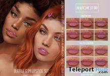 Bubble Gum HD Lipstick Set For Genus & Lelutka March 2021 Group Gift by Beauticonic Studio - Teleport Hub - teleporthub.com