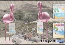 Flamingo Beach Signs March 2021 Group Gift by Careless - Teleport Hub - teleporthub.com