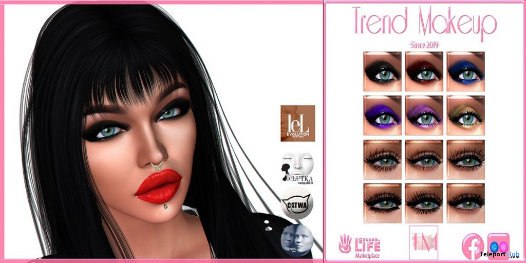 Glam Attack Eyeshadows & Lashes Fatpack March 2021 Group Gift by TREND - Teleport Hub - teleporthub.com
