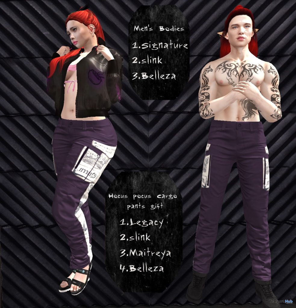 Hocus Pocus Cargo Pants Unisex March 2021 Group Gift by Max Magic - Teleport Hub - teleporthub.com
