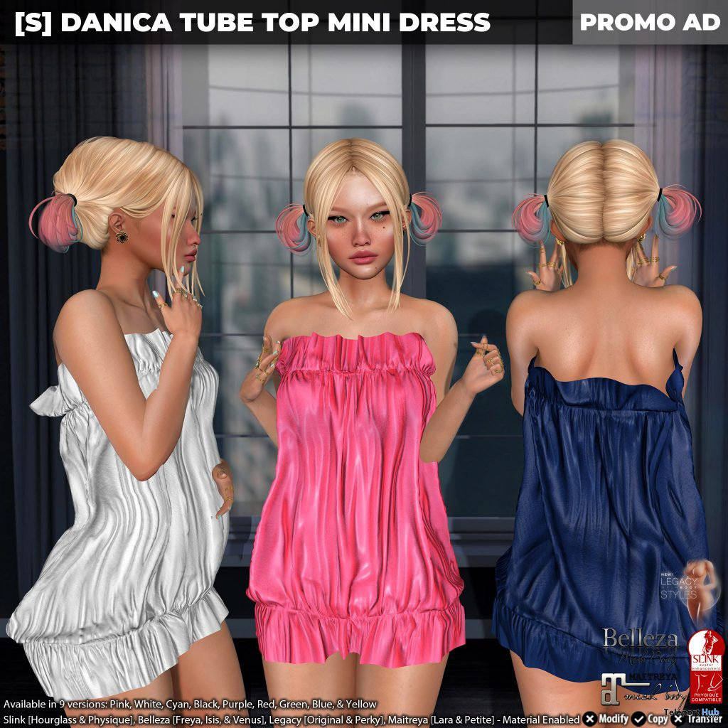 New Release: [S] Danica Tube Top Mini Dress by [satus Inc] - Teleport Hub - teleporthub.com