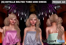 New Release: [S] Estelle Belted Tube Mini Dress by [satus Inc] - Teleport Hub - teleporthub.com