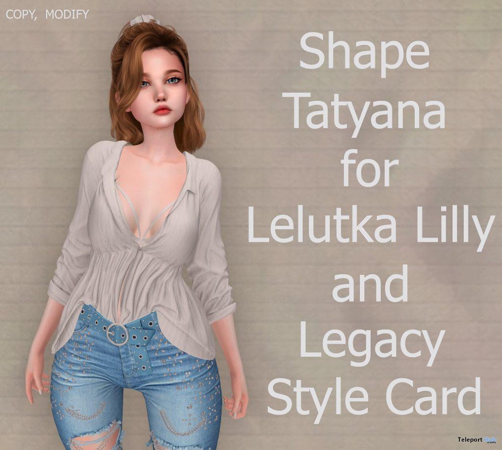 Female Shape Tatyana for Lelutka Lilly and Legacy Body 10L Promo by Rukojop - Teleport Hub - teleporthub.com