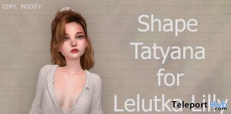 Female Shape Tatyana for Lelutka Lilly and Legacy Body 10L Promo by Rukojop - Teleport Hub - teleporthub.com