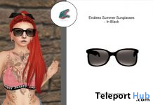 Endless Summer Sunglasses Black March 2021 Group Gift by Snappy Wears - Teleport Hub - teleporthub.com