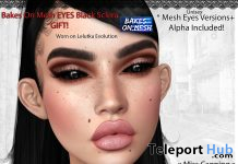 Black Sclera Eyes BOM March 2021 Group Gift by Miss Canning - Teleport Hub - teleporthub.com
