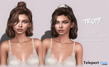 Blush Hair Fatpack With Style HUD Group Gift by TRUTH HAIR - Teleport Hub - teleporthub.com
