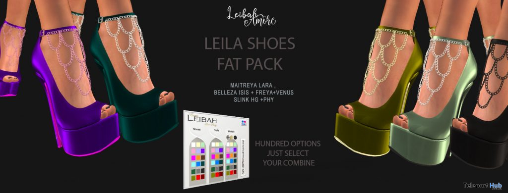 Leila Shoes Fatpack March 2021 Group Gift by Leibah - Teleport Hub - teleporthub.com