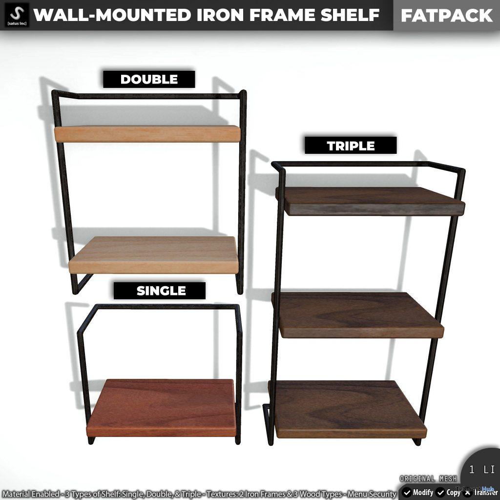New Release: Wall-Mounted Iron Frame Shelf by [satus Inc] - Teleport Hub - teleporthub.com