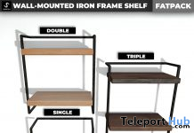 New Release: Wall-Mounted Iron Frame Shelf by [satus Inc] - Teleport Hub - teleporthub.com