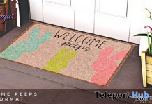 Welcome Peeps Doormat April 2021 Gift by Star Sugar - Teleport Hub - teleporthub.com