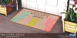 Welcome Peeps Doormat April 2021 Gift by Star Sugar - Teleport Hub - teleporthub.com