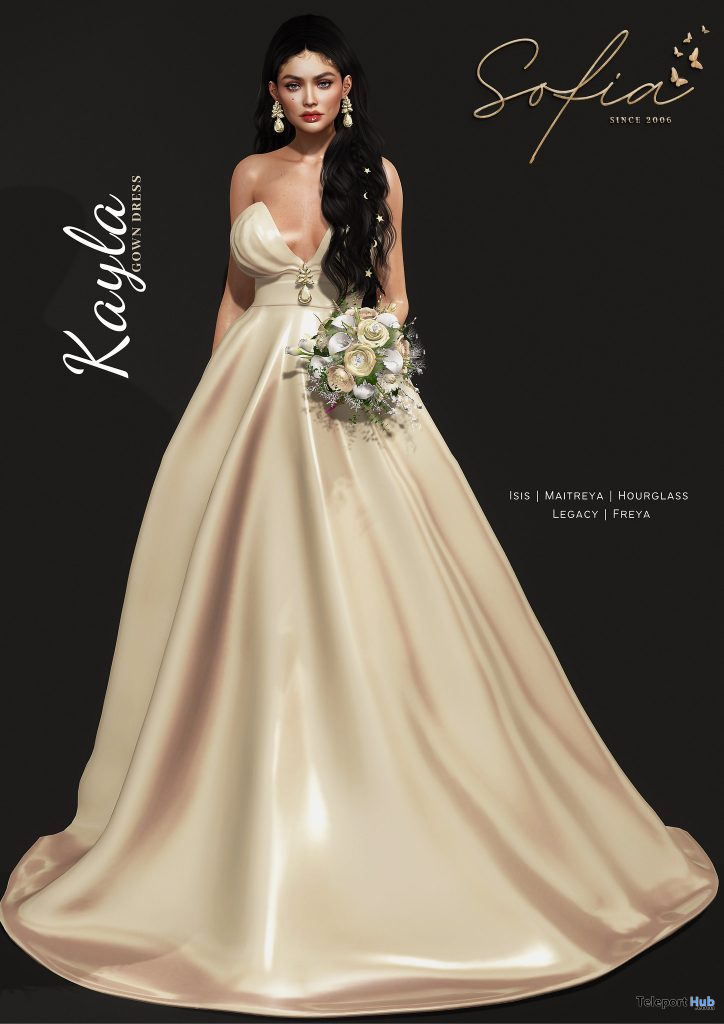 New Release: Kayla Gown by Sofia @ Sense Event April 2021 - Teleport Hub - teleporthub.com