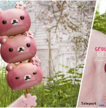 Cute Dango Bear April 2021 Group Gift by Ariskea - Teleport Hub - teleporthub.com