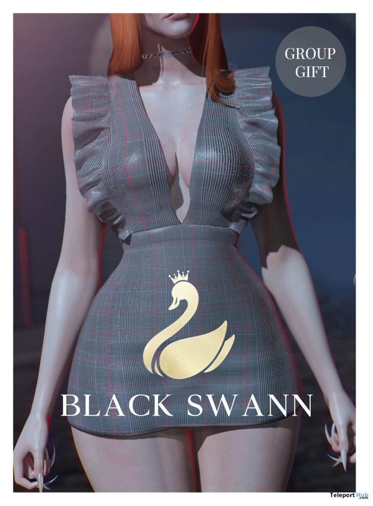 Irena Dress Plaid April 2021 Group Gift by Black Swann - Teleport Hub - teleporthub.com