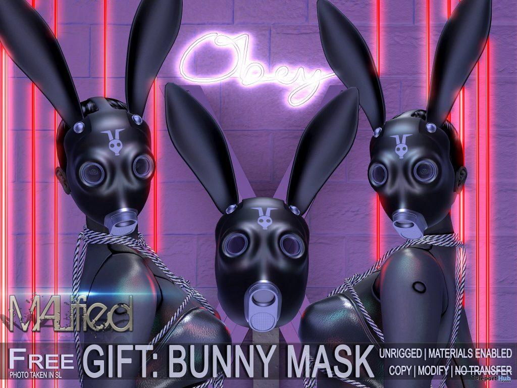 Black Bunny Mask April 2021 Group Gift by MALified - Teleport Hub - teleporthub.com