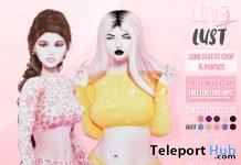Long Sleeve Crop & Panties Set April 2021 Group Gift by LOVE x LUST - Teleport Hub - teleporthub.com