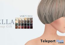 Bella Hair Variety Pack April 2021 Group Gift by Bad Hair Day - Teleport Hub - teleporthub.com