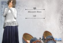 Moccasin Shoes April 2021 Group Gift by S@BBiA - Teleport Hub - teleporthub.com