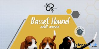 New Release: Basset Hound Animesh Dog by Rezz Room @ Kustom9 April 2021 - Teleport Hub - teleporthub.com