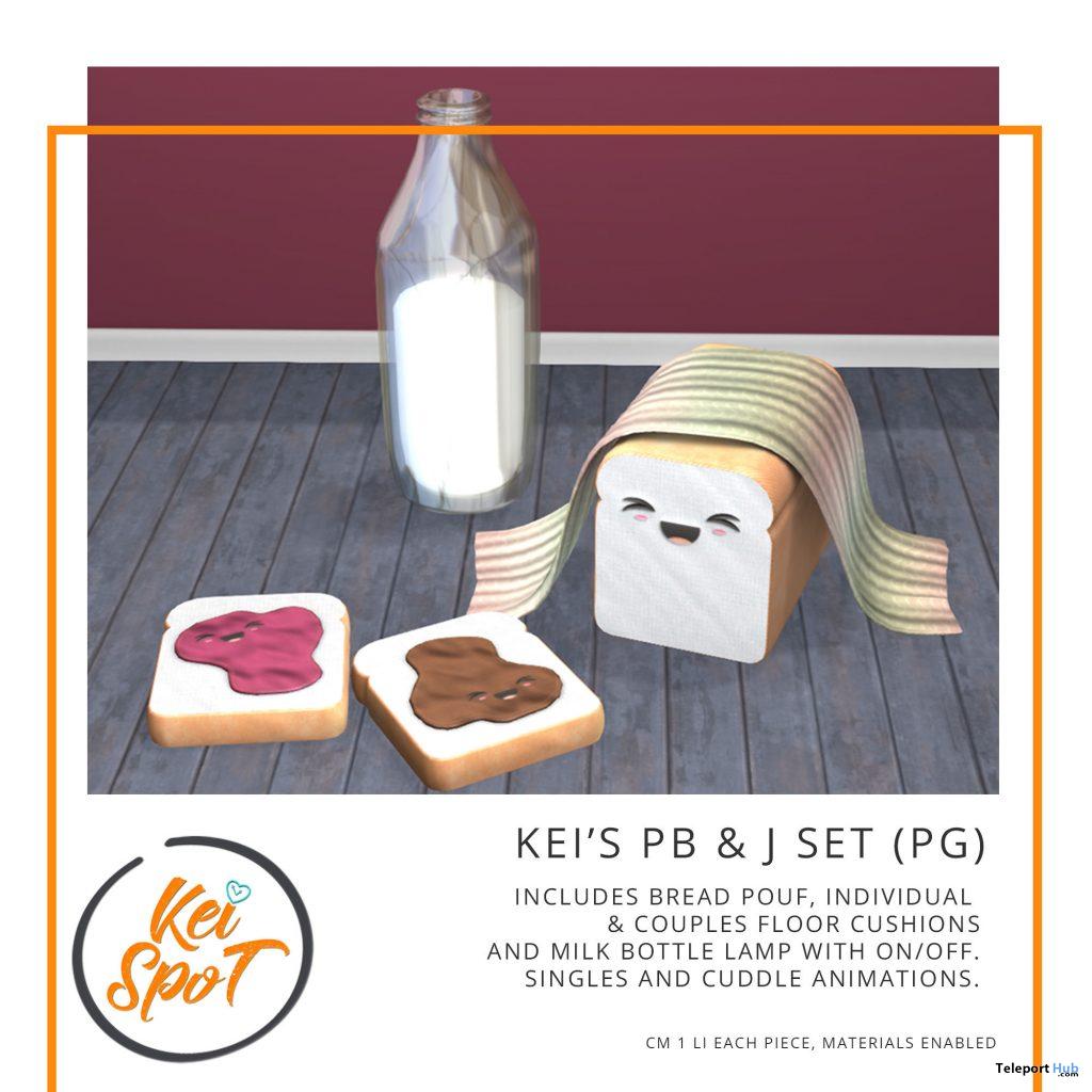 Kei's PB & J Set PG April 2021 Group Gift by Kei Spot - Teleport Hub - teleporthub.com