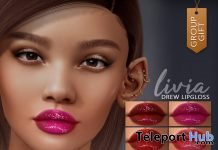 Drew Lipgloss For Lelutka Evo Heads April 2021 Group Gift by LIVIA - Teleport Hub - teleporthub.com