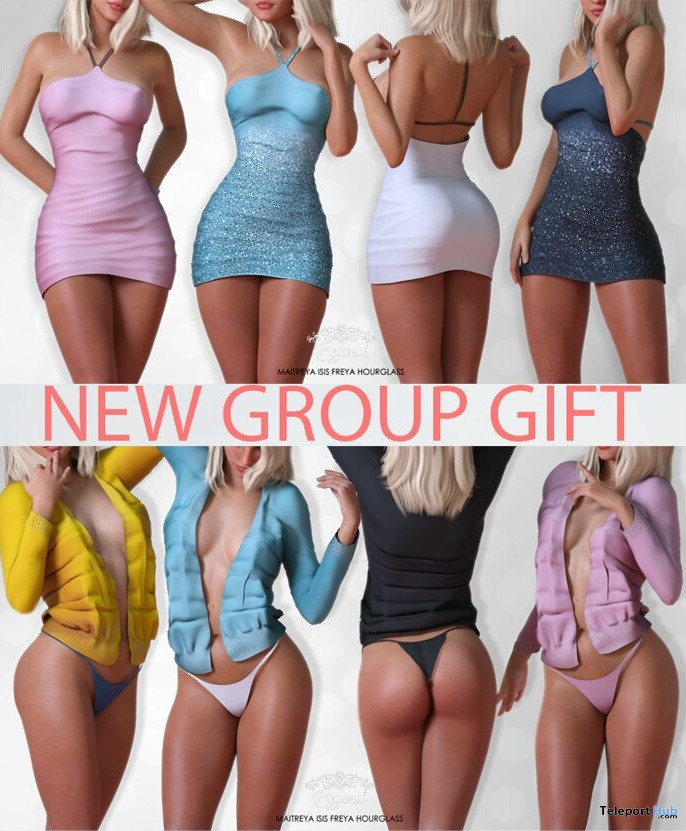 Ainoha Dress & Nikita Outfit Fatpack April 2021 Group Gift by Beyond - Teleport Hub - teleporthub.com