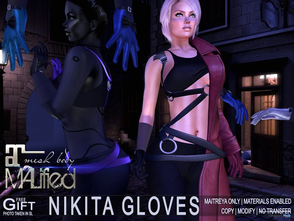 Nikita Bento Gloves April 2021 Group Gift by MALified - Teleport Hub - teleporthub.com