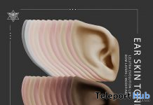 Ear Skin Tones For Lelutka Evo Line Mesh Heads April 2021 Group Gift by Psycho Barbie - Teleport Hub - teleporthub.com