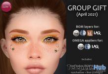 Bizzie Bee Makeup BOM & Omega April 2021 Group Gift by Izzie's - Teleport Hub - teleporthub.com