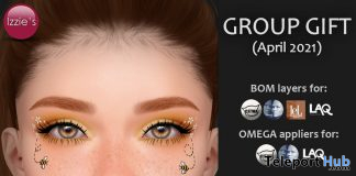 Bizzie Bee Makeup BOM & Omega April 2021 Group Gift by Izzie's - Teleport Hub - teleporthub.com