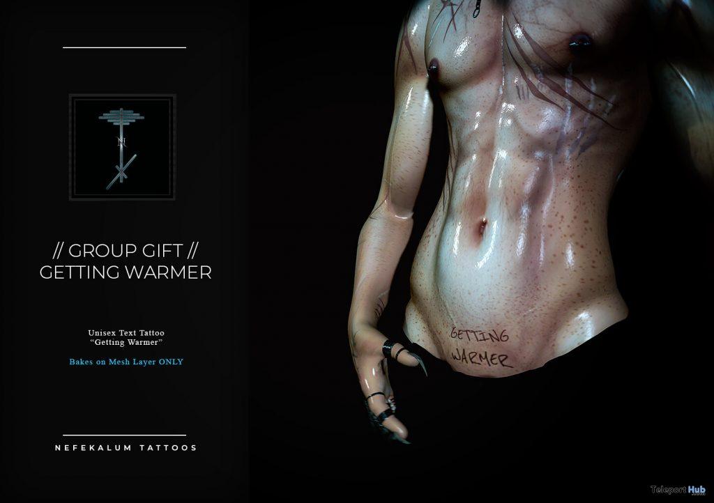 Getting Warmer Unisex Tattoo April 2021 Group Gift by Nefekalum Tattoos - Teleport Hub - teleporthub.com