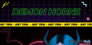 Demon Horn April 2021 Group Gift by Just Tony - Teleport Hub - teleporthub.com