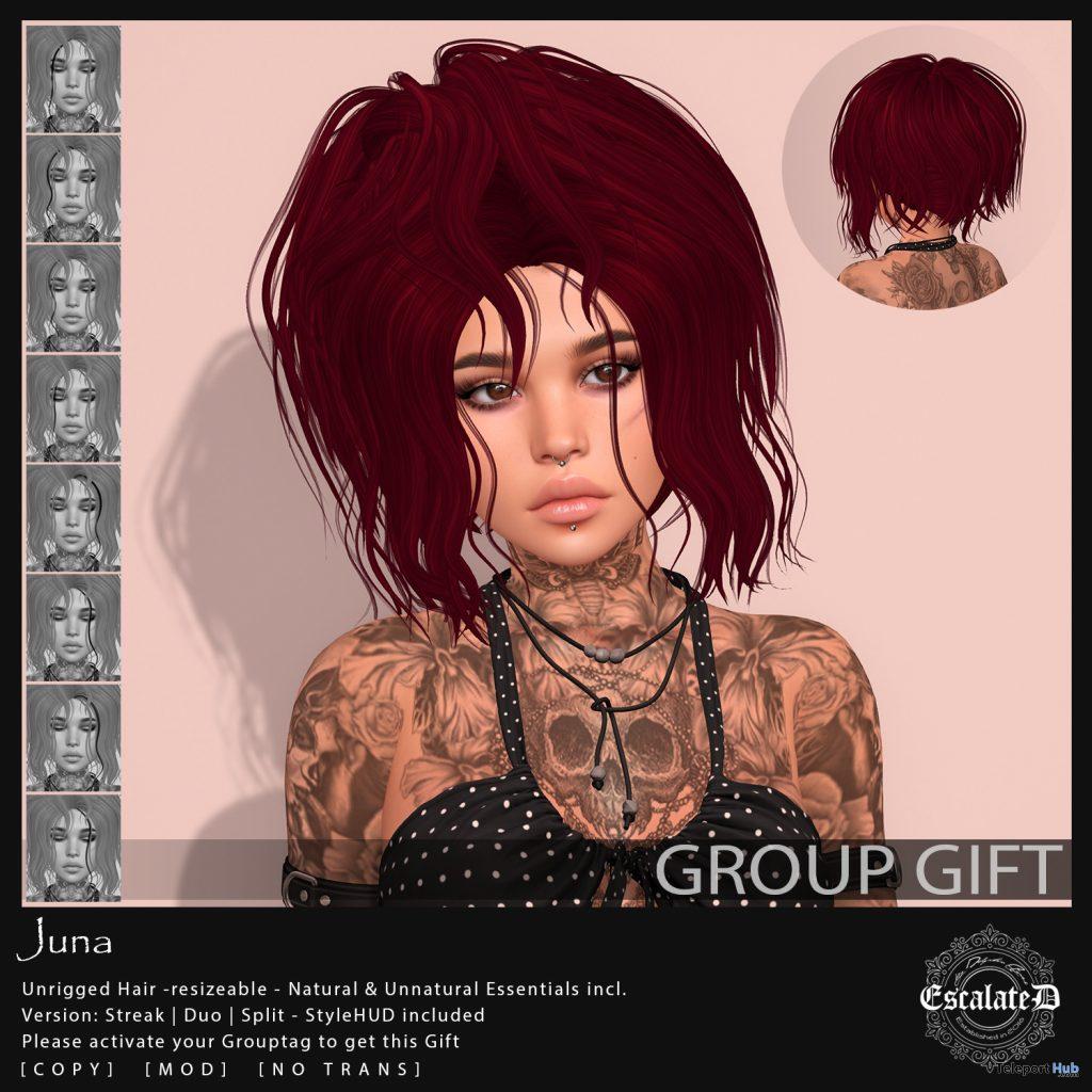 Juna Hair April 2021 Group Gift by EscalateD - Teleport Hub - teleporthub.com